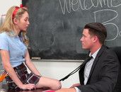 Schoolgirl Angel Smalls Gives Her Body To The Teacher