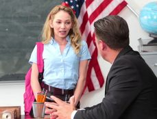 Schoolgirl Angel Smalls Gives Her Body To The Teacher