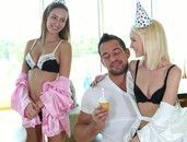 Petite Ladies Make His Birthday A Hardcore Dream