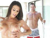 Muscular Pool Guy Pounds A Naughty Milf Outdoors