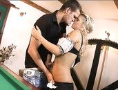 Cumshot On The French Maid After Blistering Hot Sex