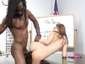 Teen Learns About Interracial Fucking In Class