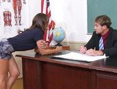 Hunk Teacher Seduced By His Big Tits Student