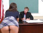 Hunk Teacher Seduced By His Big Tits Student