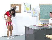 Asian Cheerleader And The Rough Gym Teacher Fucking
