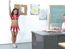 Asian Cheerleader And The Rough Gym Teacher Fucking