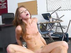 Choking A Schoolgirl Slut As He Fucks Her Cunt
