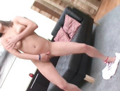 Young Pussy Is Wet For Stretching By A Big Dildo