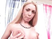 Fake Titty Babe Has An Anal Gangbang