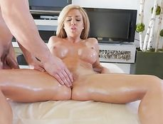 Massaging A Milf Makes His Cock Hard To Fuck Her