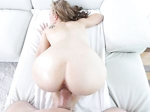 Hairy Teen Cunt Opens Up Around His Big Cock
