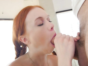 Tiny Gal Spreads Wide And Takes His Huge cock