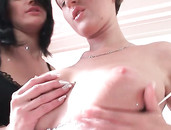 Spectacular Natural Tits On These Two Dirty Whores