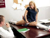 Seduced By A Flexible Schoolgirl In A Short Skirt