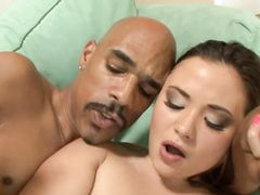 Huge Dick Has Its Way With Her Shaved Asian Pussy