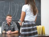 Schoolgirl With A Great Body Bangs The Music Teacher