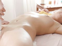 Great Ass And Tits On The Babe He Massages Erotically