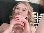 Young Cunt Leaves Her Big Dildos Soaked With Juices