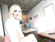 Big Eyes Are Beautiful On A Blonde POV Cocksucker