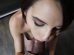 POV With Cece Capella Shows Her Dick Sucking Skills
