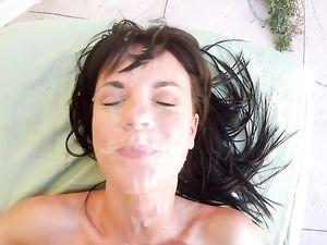 Big POV Facial Nearly Covers Her Pretty Face
