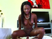 Young Black Cocksucker Armani Monroe Fucked In Close Up