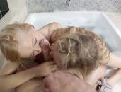 Fucking Lithe Blonde Teens In His Bathroom